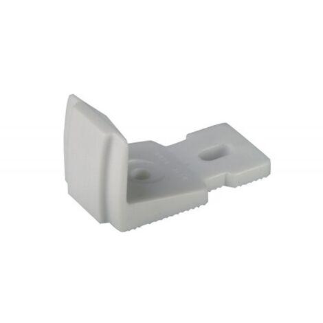 Butée d espagnolette à visser en aluminium finition noir pour volets aluminium et PVC