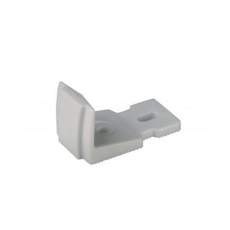 Butée d espagnolette à visser en PVC finition blanc pour volets aluminium et PVC