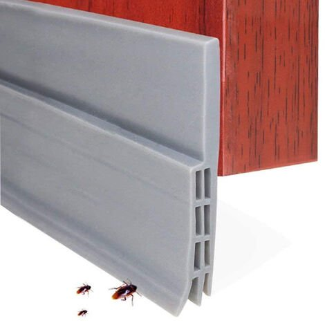 Butée de tirage de porte Balayage de porte pour portes extérieures / intérieures, bande d'étanchéité de porte étanche sous le joint de pare-brise de porte, coupe-froid insonorisé pour bas de porte, gris