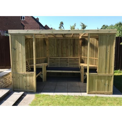 """main image of """"Buttercup Garden Room Shelter - Open Sided Summerhouse – Assembly included"""""""