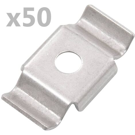 Butterfly Fence Clips 50 pcs Stainless Steel
