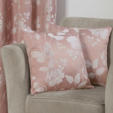 """Butterfly Meadow Cushion Cover Blush 17x17"""" Bed Sofa Accessory"""