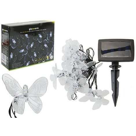 Butterfly Solar String Lights 2 Colours