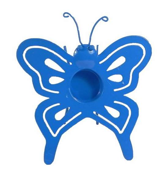 Image of Butterfly Tealight Holder Blue