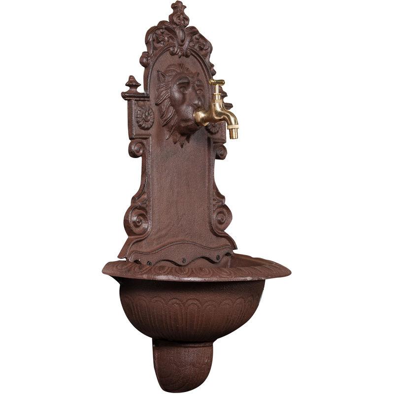 Fontaine en fonte rouille vieillie L35xPR18xH60 cm