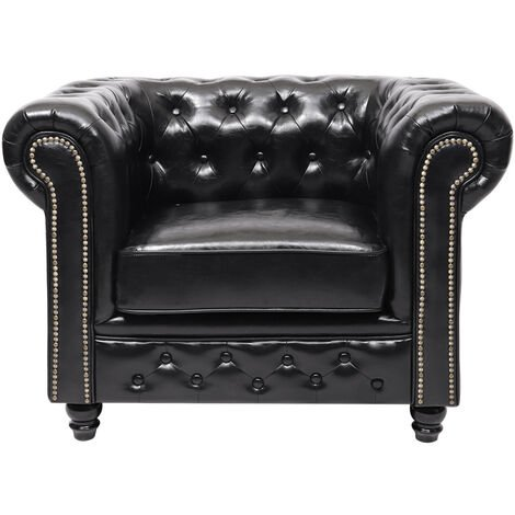 """main image of """"Buttoned Chesterfield Sofa Lounge Tub Armchair , One Seater"""""""