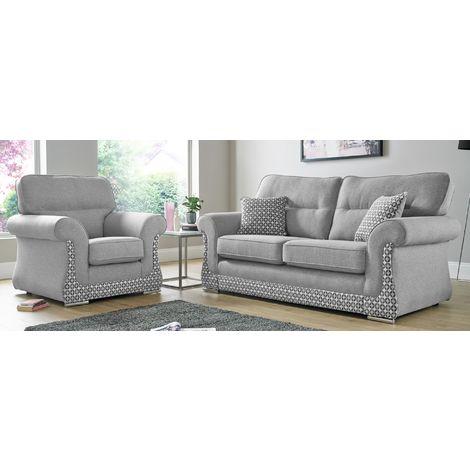 Buy fabric sofa in Halifax 3+1+1 Suite   Free swatches DesignerSofas4U