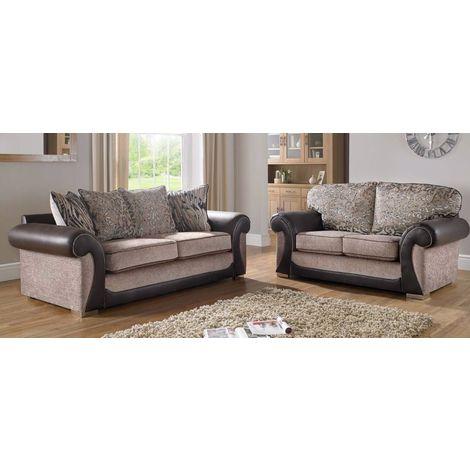 Buy fabric sofa Suite Free swatches DesignerSofas4U