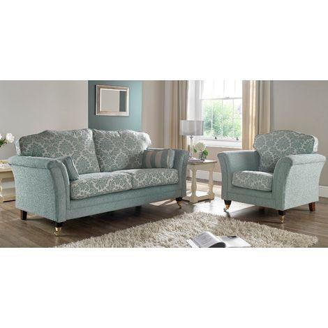 Buy pale blue fabric Suite|Sofas on Credit|DesignerSofas4U