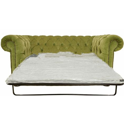 Buy sage green Chesterfield sofa bed at DesignerSofas4U