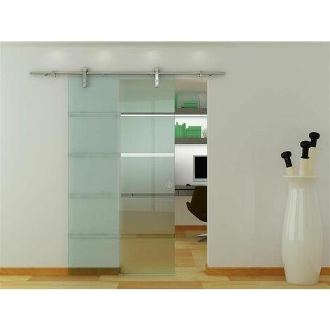 BuyLando.Shop - Glasschiebetür 900x2050mm [Typ-Slide01] 8mm ESG Glas