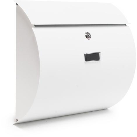 Buzón Diseño Moderno V17 Cartas Correo Blanco Acero recubierto en polvo