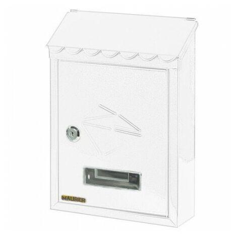 Buzón maurer exterior 21x30x6,8 cm. blanco