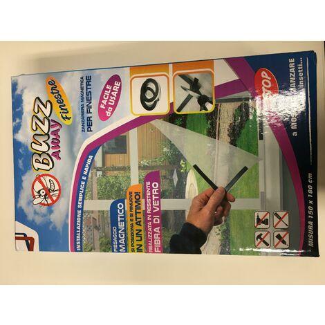 Buzzz away magnetic zanzarier for windows 4mm d'e'paisseur en fibre de verre igz107