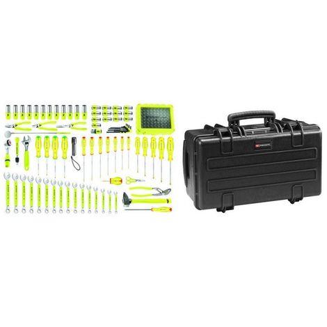 BVFC1.FLUO-1 Sélection de 143 outils fluorescents métriques en modules mousse et caisse étanche