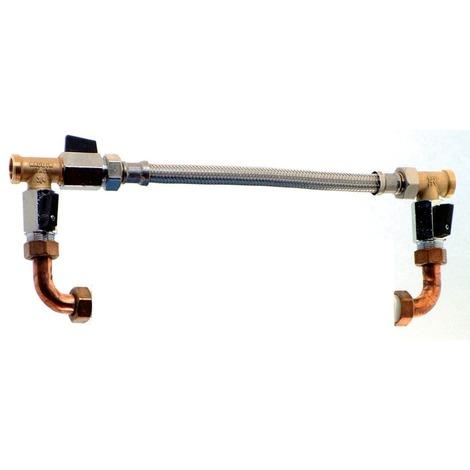 By-pass avec vannes pour filtre double et filtre seul sous coque