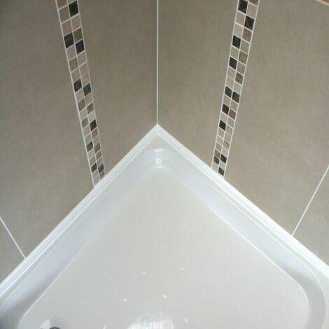"main image of ""Byretech ShowerSeal Ultra 10 Kit White Quadrant Profile Silicone Sealant SSWK02"""
