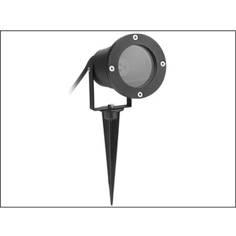 Byron BYRGSW001HB Black Outdoor Spotlight - No Bulb