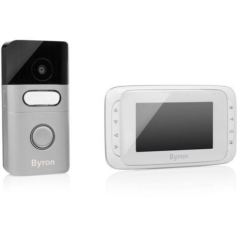 """main image of """"Byron Interphone vidéo sans fil 16,4x13,5x2 cm Blanc"""""""