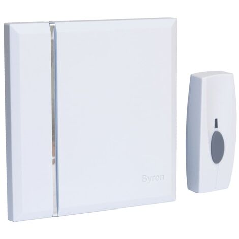 Byron Wireless Chime Doorbell with 4 Tones White