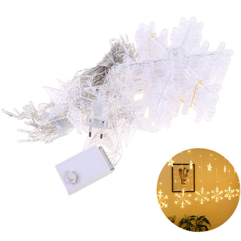 BZ1637 220v enchufe de la UE 138 Copo de nieve grande + pequeno Pentagram la noche luces de la cortina LEDLamp Tira Hilo de Luz Luces de Navidad Cortina de boda de la lempara de neon de la linterna, 4 #