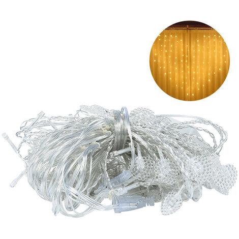 BZ1641 Love Shape Pearlescent Curtain Light String 112 Light Beats 8 Modes 220v Euro Gauge