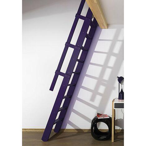 """main image of """"Escalier de meunier rabattable en bois naturel, noir ou blanc (plusieurs tailles disponibles)"""""""