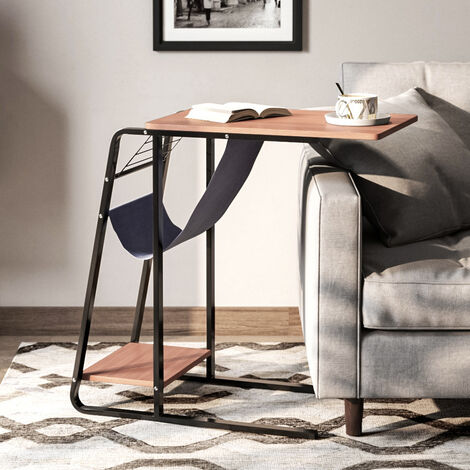 C Shaped Coffee Table Bed Sofa Side Table