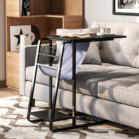 """main image of """"C Shaped Side Table Snack Coffee Tray End Table Computer Table Living Room Under Sofa Table"""""""