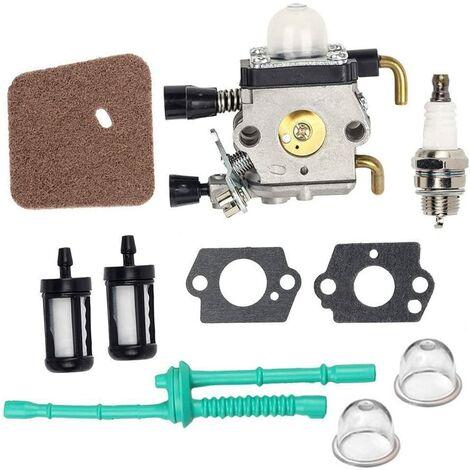 C1q-s97 Carburateur Filtre à air Kit de Carburant Stihl FS38 FS45 FS46 Fs46 C Fs45 C Fs55 C Fs55 Fs55r Tondeuse Fs55rc Km55 C Kombi Moteur