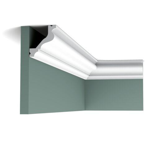 C200 Corniche plafond Orac Decor Luxxus - 6,5x5,5x200cm (h x p x L) - moulure décorative - rigideouflexible : rigide - conditionnement : A l'unité