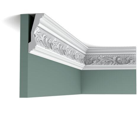 C201 Corniche plafond polyuréthane Orac Decor Luxxus - 11,5x5x200cm (h x p x L) - moulure décorative - rigideouflexible : rigide - conditionnement : A l'unité