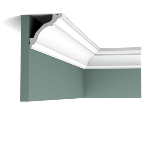 C213F Flexible Corniche plafond Orac Decor- 8x8x200cm (h x p x L) - moulure décorative polyuréthane - rigide ou flexible : flexible - conditionnement : A l'unité