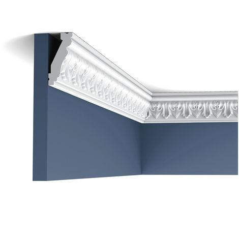 C214 Corniche plafond polyuréthane Orac Decor Luxxus - 6,5x3x200cm (h x p x L) - moulure décorative - rigideouflexible : rigide - conditionnement : A l'unité
