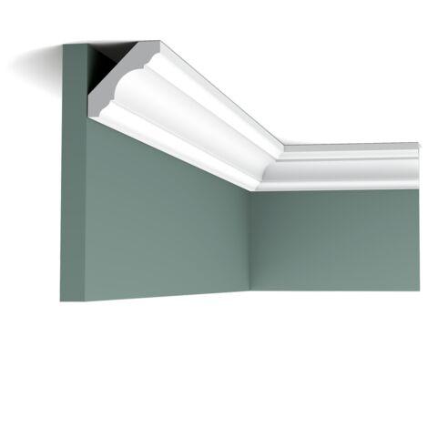 C215F Flexible Corniche plafond Orac Decor - 4,5x4,5x200cm (h x p x L) - moulure décorative polyuréthane - rigide ou flexible : flexible - conditionnement : A l'unité