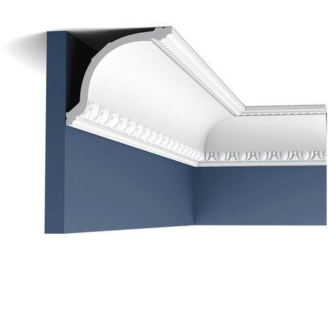 C216 Corniche plafond Orac Decor - 11,5x13,5x200cm (h x p x L) - moulure décorative polyuréthane - rigide ou flexible : rigide - conditionnement : Pack 2 pièces