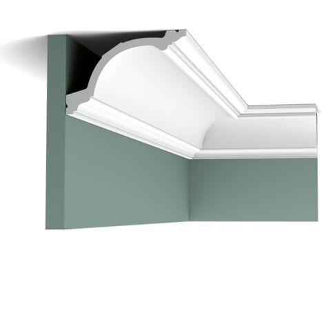 C217F Flexible Corniche plafond Orac Decor - 10,5x15,5x200cm (h x p x L) - moulure décorative polyuréthane - rigide ou flexible : flexible - conditionnement : A l'unité