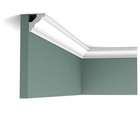 C230 Corniche plafond polyuréthane Orac Decor Luxxus - 3x3x200cm (h x p x L) - moulure décorative - rigideouflexible : rigide - conditionnement : A l'unité