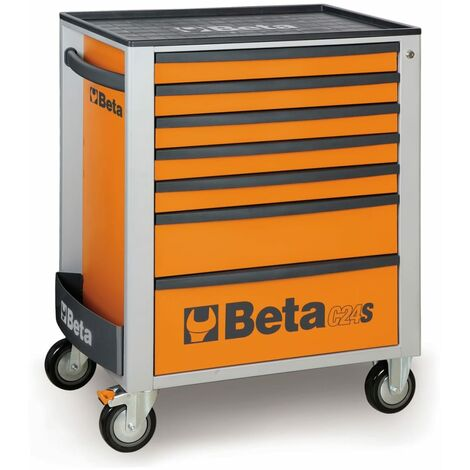 C24S 7/G Beta Mobile Roller Cabinet With Seven Drawers