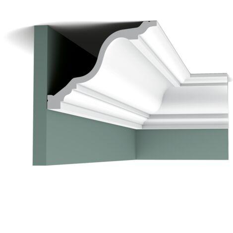 C334F Flexible Corniche plafond Orac Decor - 15x19,5x200cm (h x p x L) - moulure décorative polyuréthane - rigide ou flexible : flexible - conditionnement : A l'unité