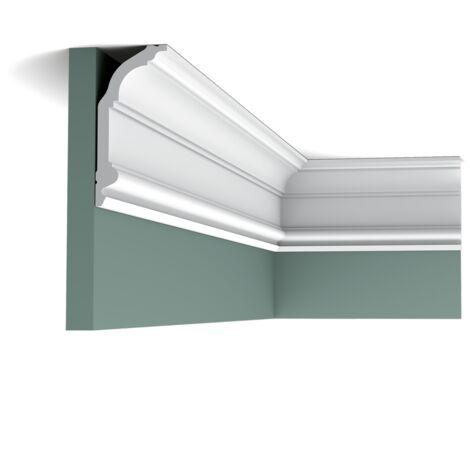 C339F Flexible Corniche plafond Orac Decor - 14x6x200cm (h x p x L) - moulure décorative polyuréthane - rigide ou flexible : flexible - conditionnement : A l'unité