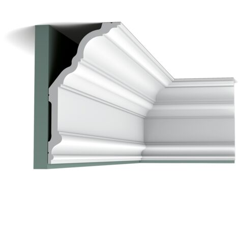 C340 Corniche plafond polyuréthane Orac Decor Luxxus - 25,5x20x200cm (h x p x L)- moulure décorative - conditionnement : A l'unité