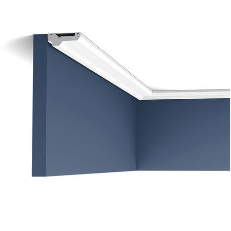C360 Corniche plafond polyuréthane Orac Decor Luxxus - 2x6x200cm (h x p x L) - moulure décorative - conditionnement : A l'unité