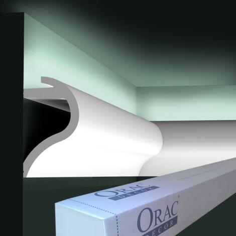 C364 Corniche Eclairage Indirect Polyuréthane Orac Decor Luxxus - 14x8cm (h x p) - Conditionnement : A l'unité
