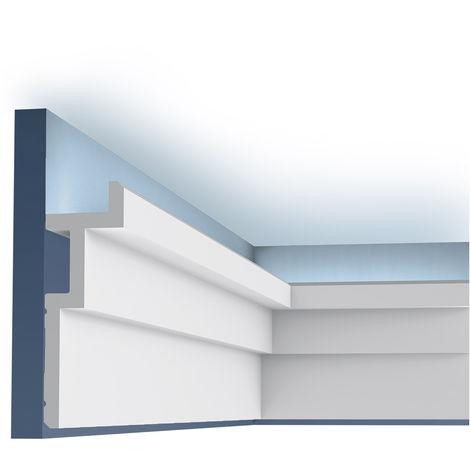 C396 STEPS Corniche Plafond Orac Decor - Luxxus -18,5x6,1x200cm (h x p x l) moulure décorative