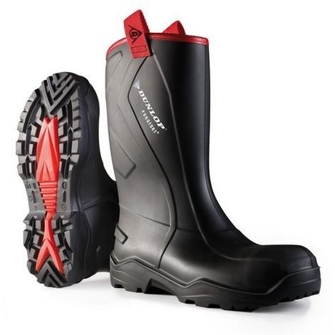 C762043 Purofort+ Rugged Black Safety Wellington Boots