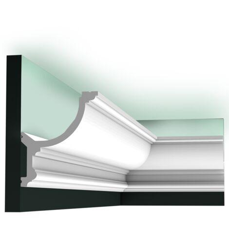 C901 Corniche plafond polyuréthane Orac Decor Luxxus 14,8x12,4x200cm (h x p x L) moulure décorative - rigideouflexible : rigide - conditionnement : A l'unité