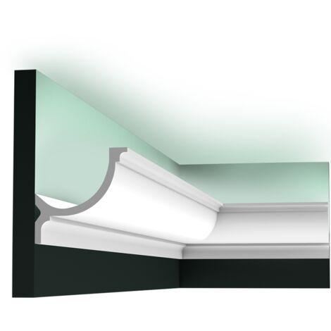 C902F Flexible Corniche plafond pour éclairage indirect Orac Decor - 10x10x200cm (h x p x L) - moulure décorative polyuréthane - rigide ou flexible : flexible - conditionnement : A l'unité