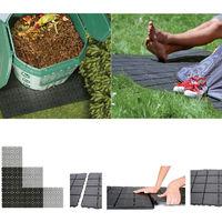 Ca. 1,5qm Komposter Bodenplatte Bodenfliese Campingboden Gehwegplatte Balkonfliese