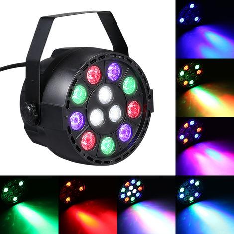 CA 90-240V 12 LED Par luces de 8 canales RGBW de mezcla de color Etapa de iluminacion con DMX Strobe y sonido Modo Activo para el disco fiesta de Navidad de colada de la pared